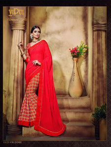 Red Traditional Casual Wear Saree