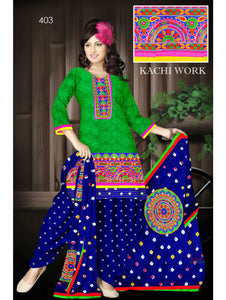 Green Designer Exclusive Fancy Daily Wear Cotton Salwar Suit