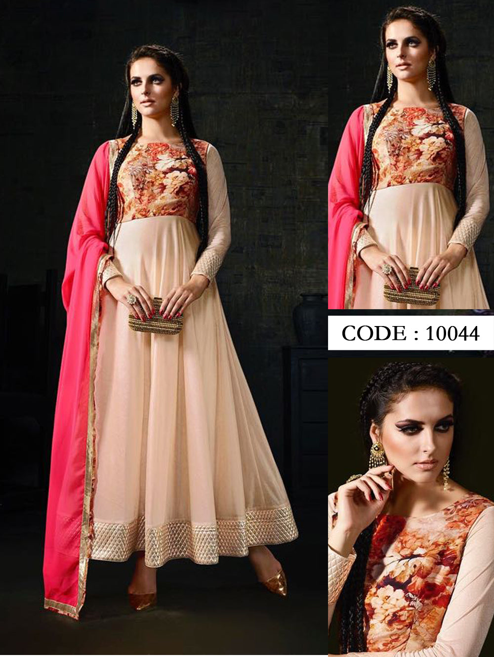 Peach Exclusive Designer Anarkali Suit