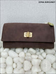 Burgundy Stylish Women Clutch