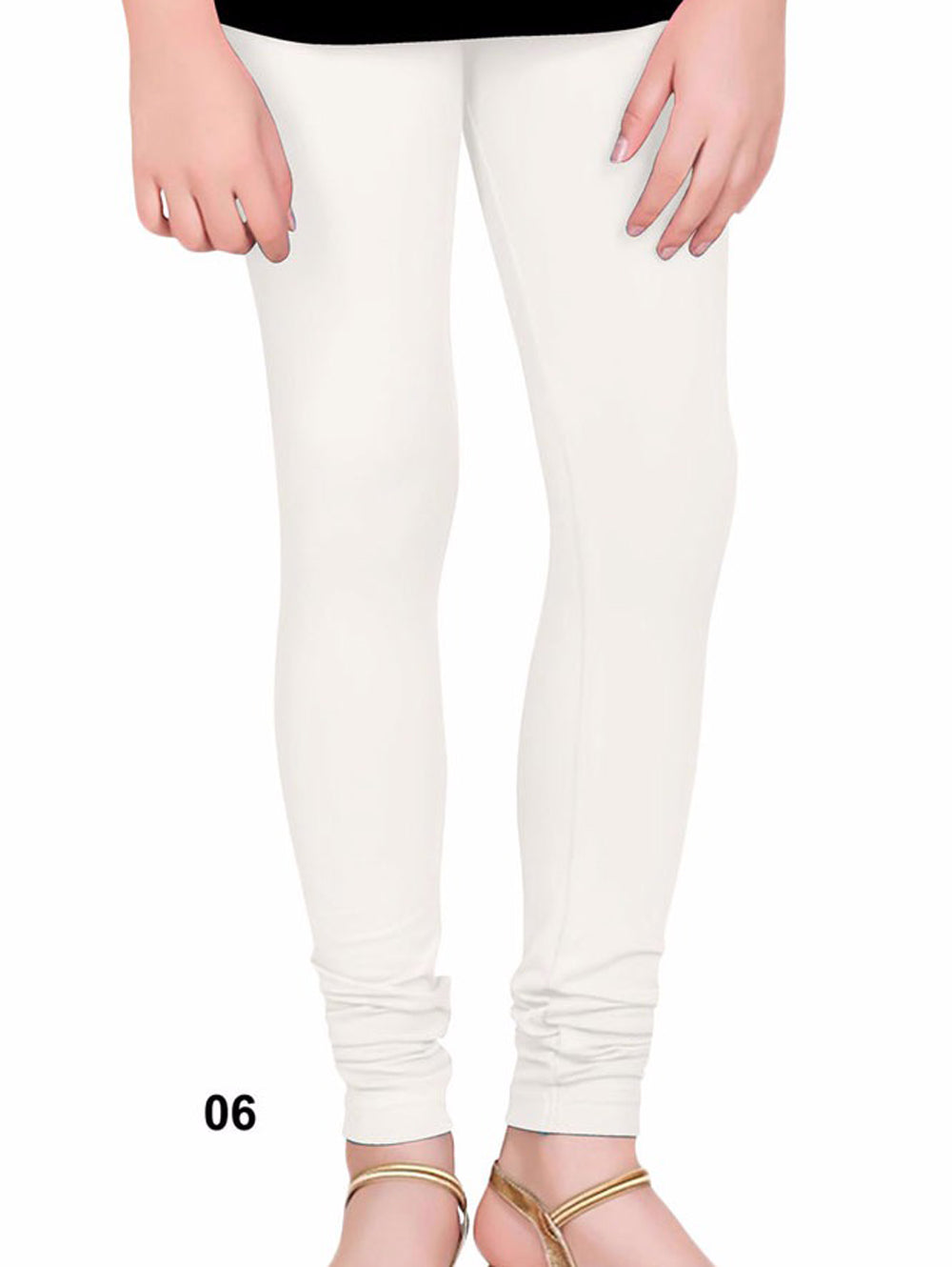White 4 Way Lycra Leggings