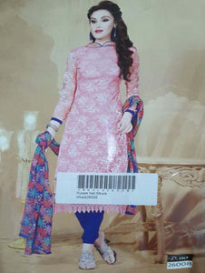 Pink Designer Straight Suit