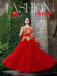 Red Wedding Wear Gown