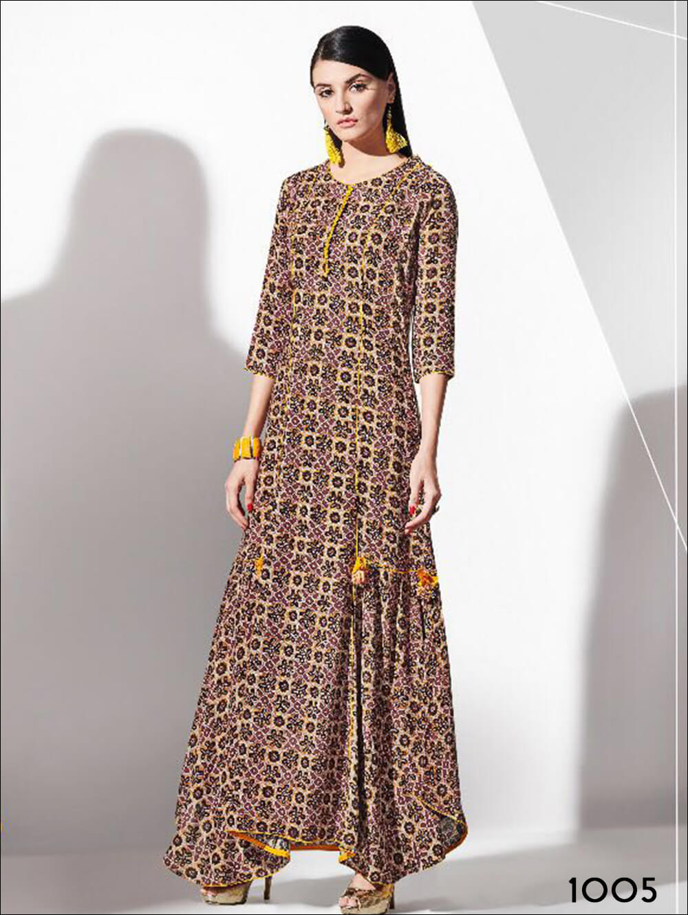 Party Wear Kurtis Size XL Colour Multicolour Material rayon