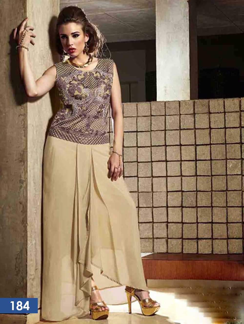 Copper Brown Designer Kurti