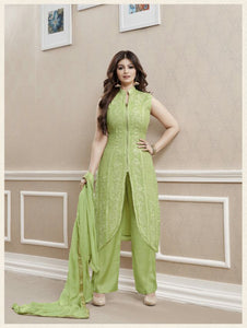 Olive Green Exclusive Fancy Party Wear Designer Suit