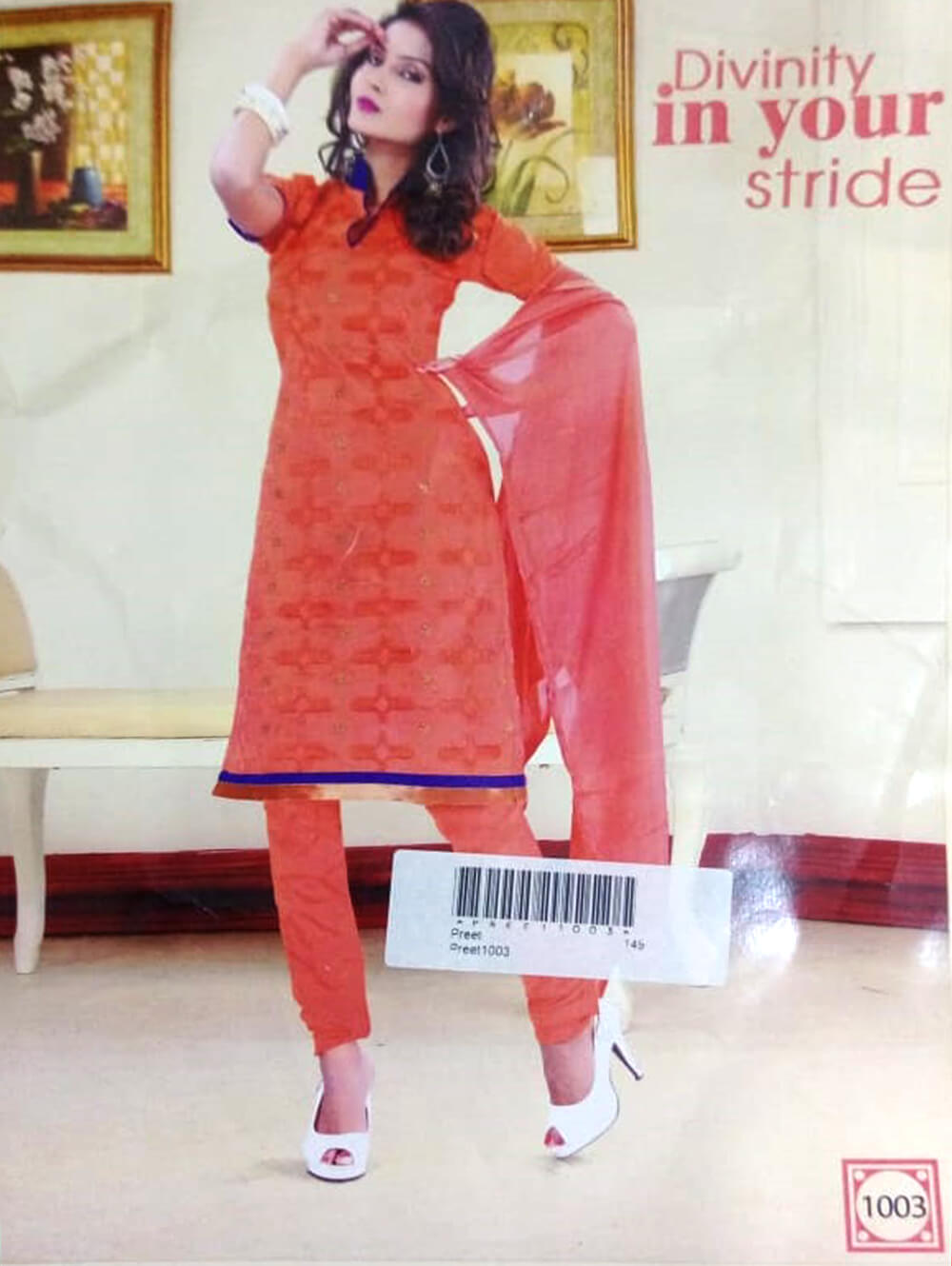 Light Red Designer Daily Wear Salwar Suit