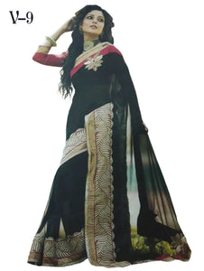 Black Designer Georgette Saree