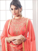Light Red Exclusive Semi stitched Designer suit