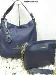 Navy Blue Stylish Combo Women Handbag