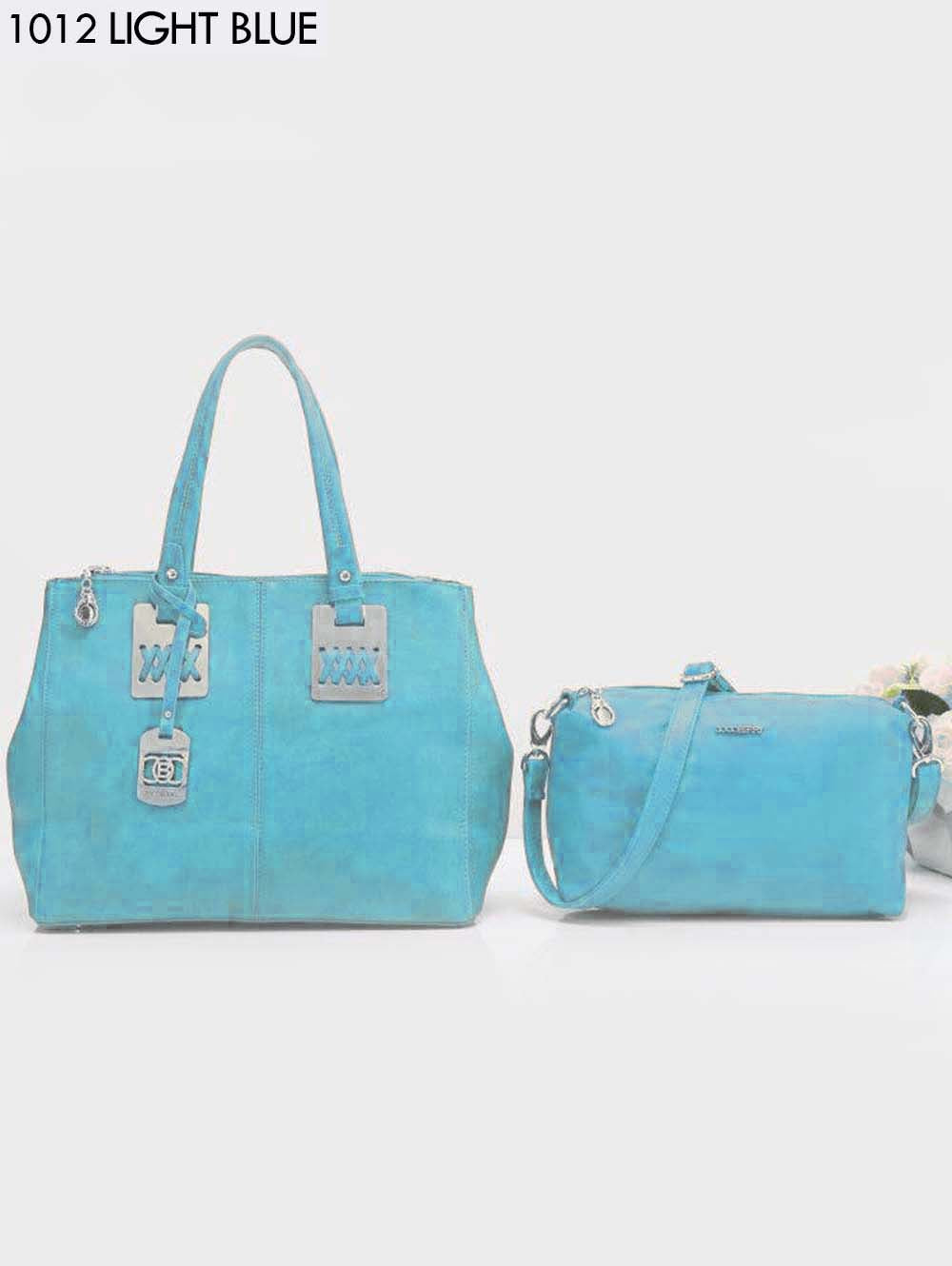 Light Blue Stylish Combo Women Handbag