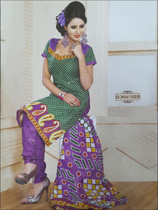 Green Printed Salwar Suit