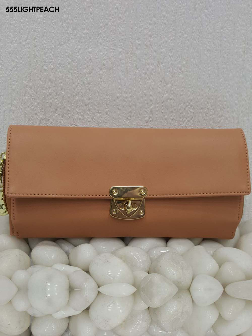Light Peach Stylish Women Clutch