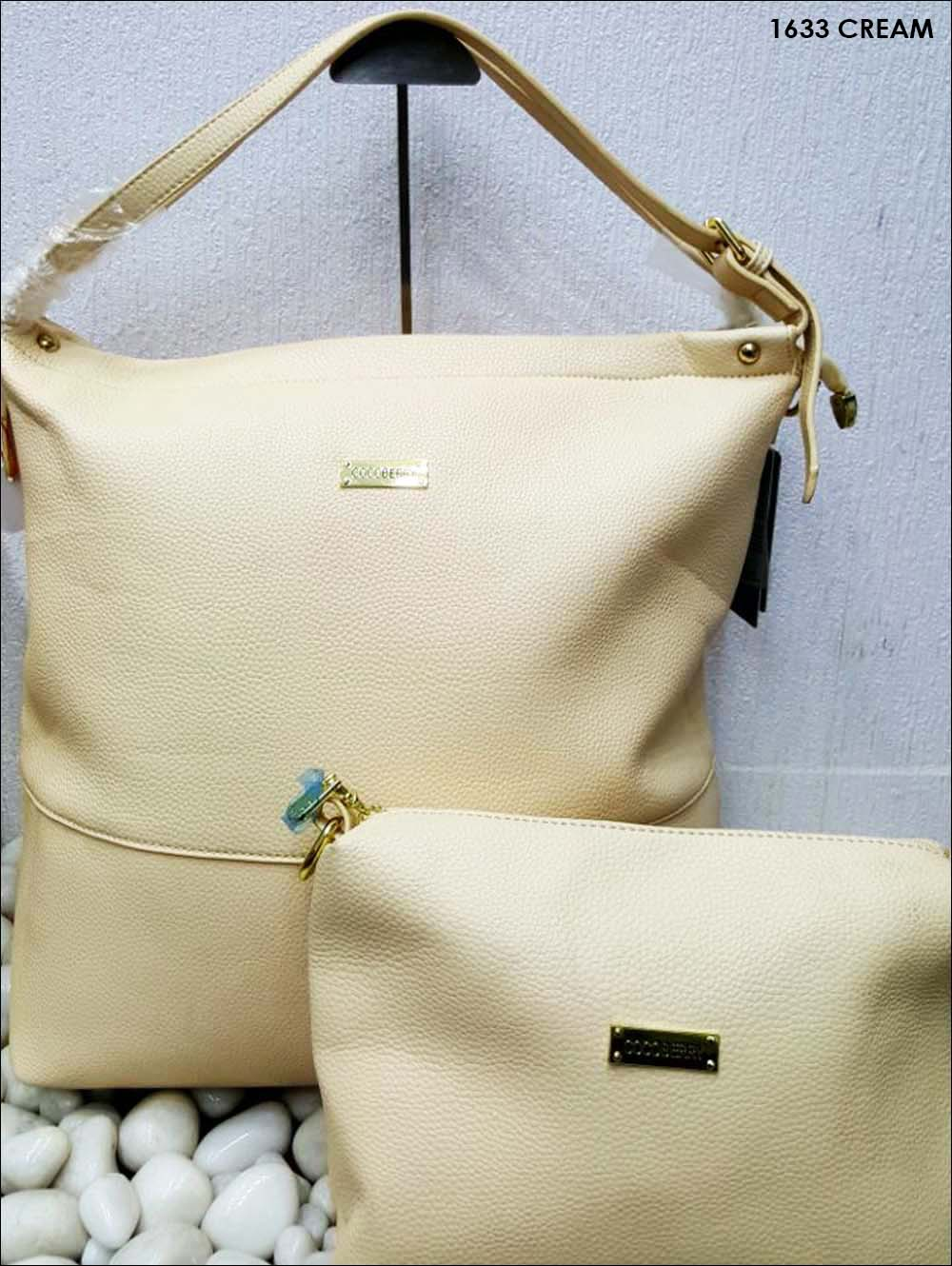 Cream Stylish Combo Women Handbag