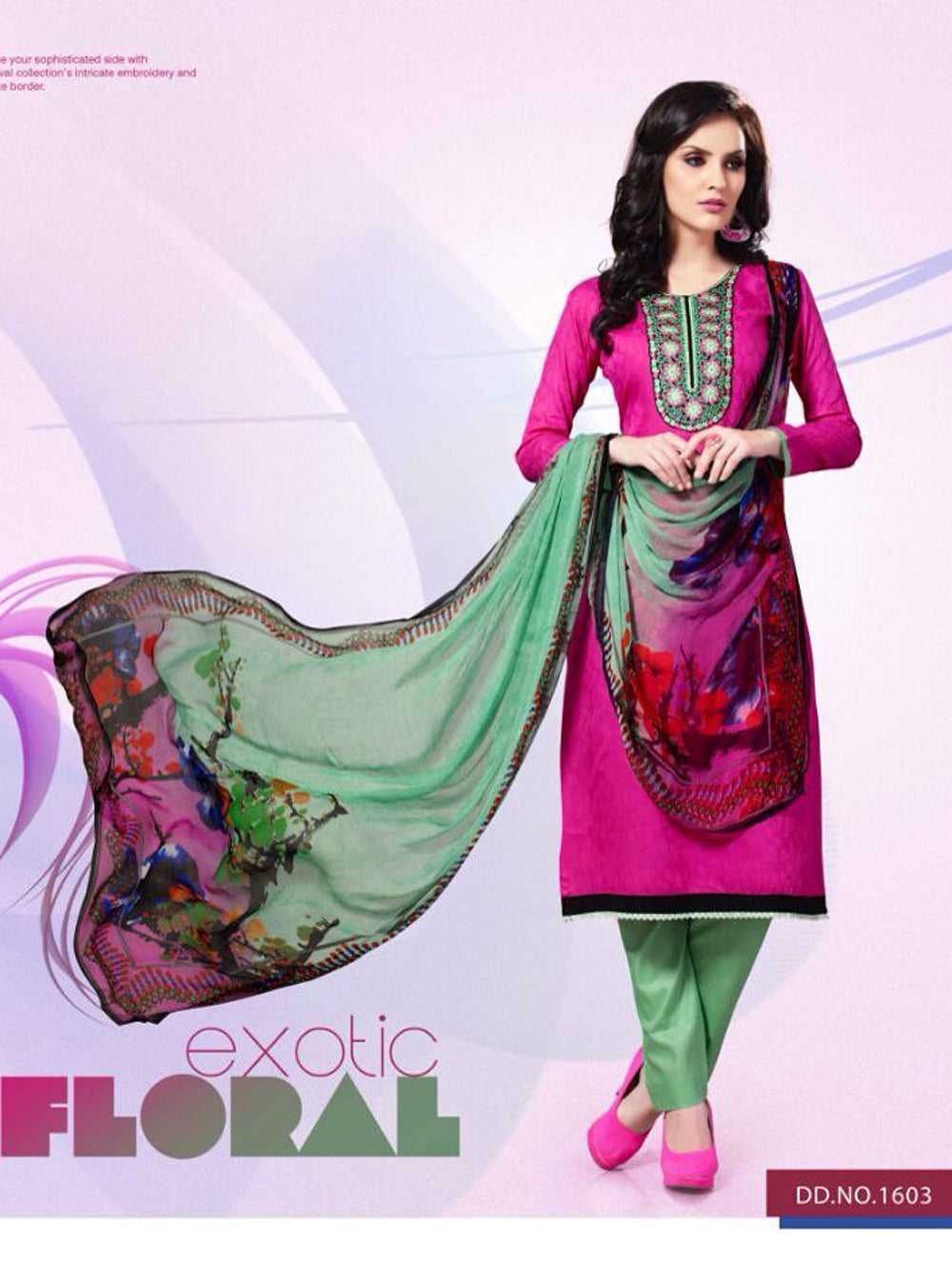 Deep Magenta and Black Party Wear Cotton Satin Jacquard Straight Suit