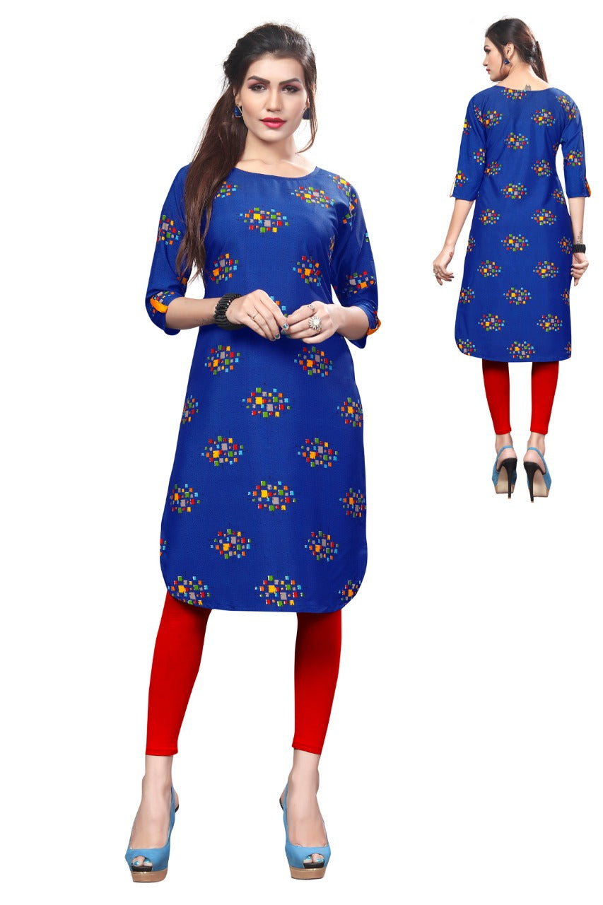 Ethnic Creap Full Printed Kurti