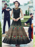 Stitched Black Heavy Soft Banglori Silk Gown