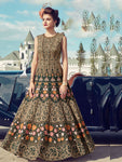 Stitched Golden Green Heavy Soft Banglori Silk Gown