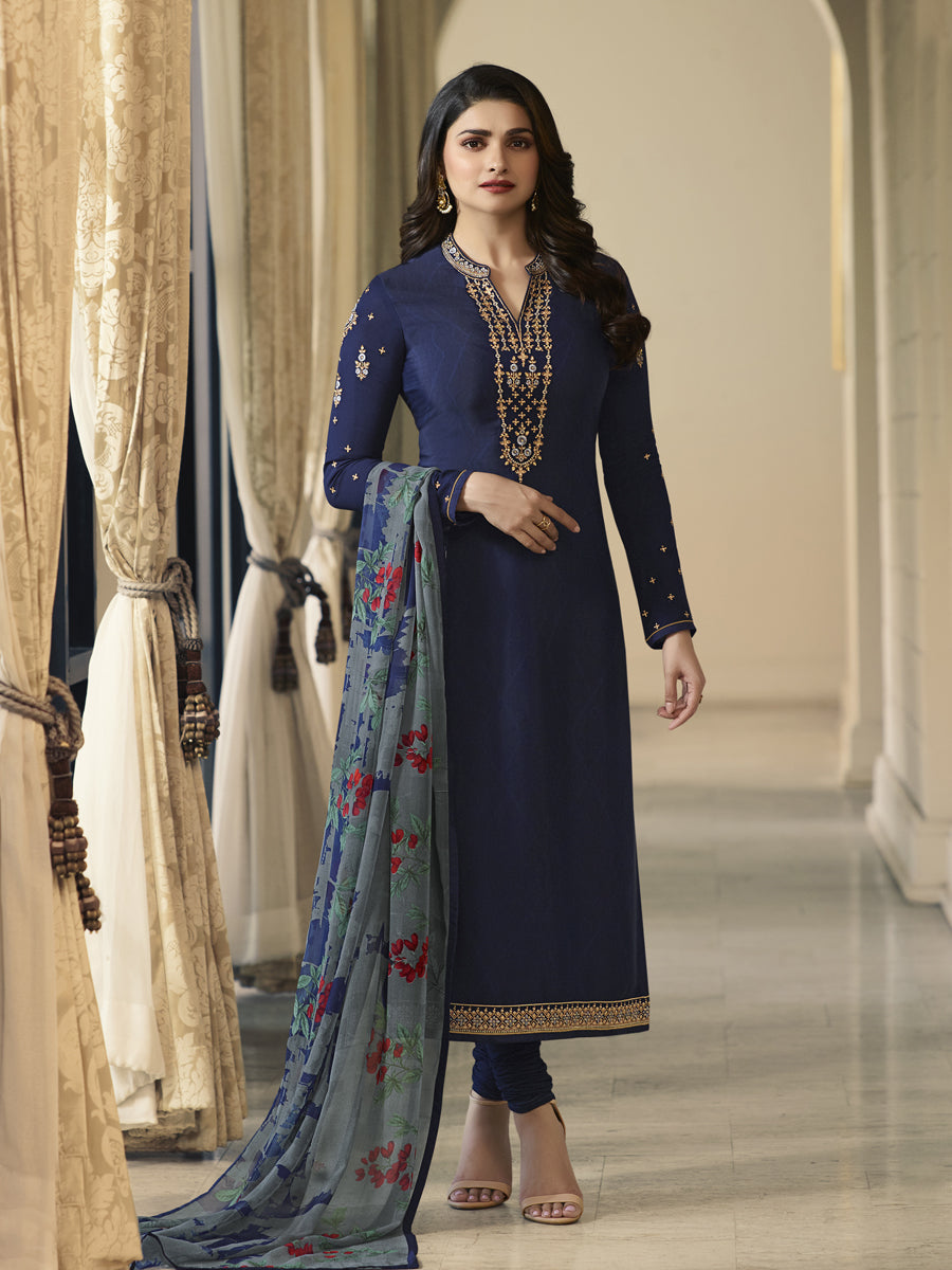 royal crepe Salwar Suit  with Chifon Print Dupatta