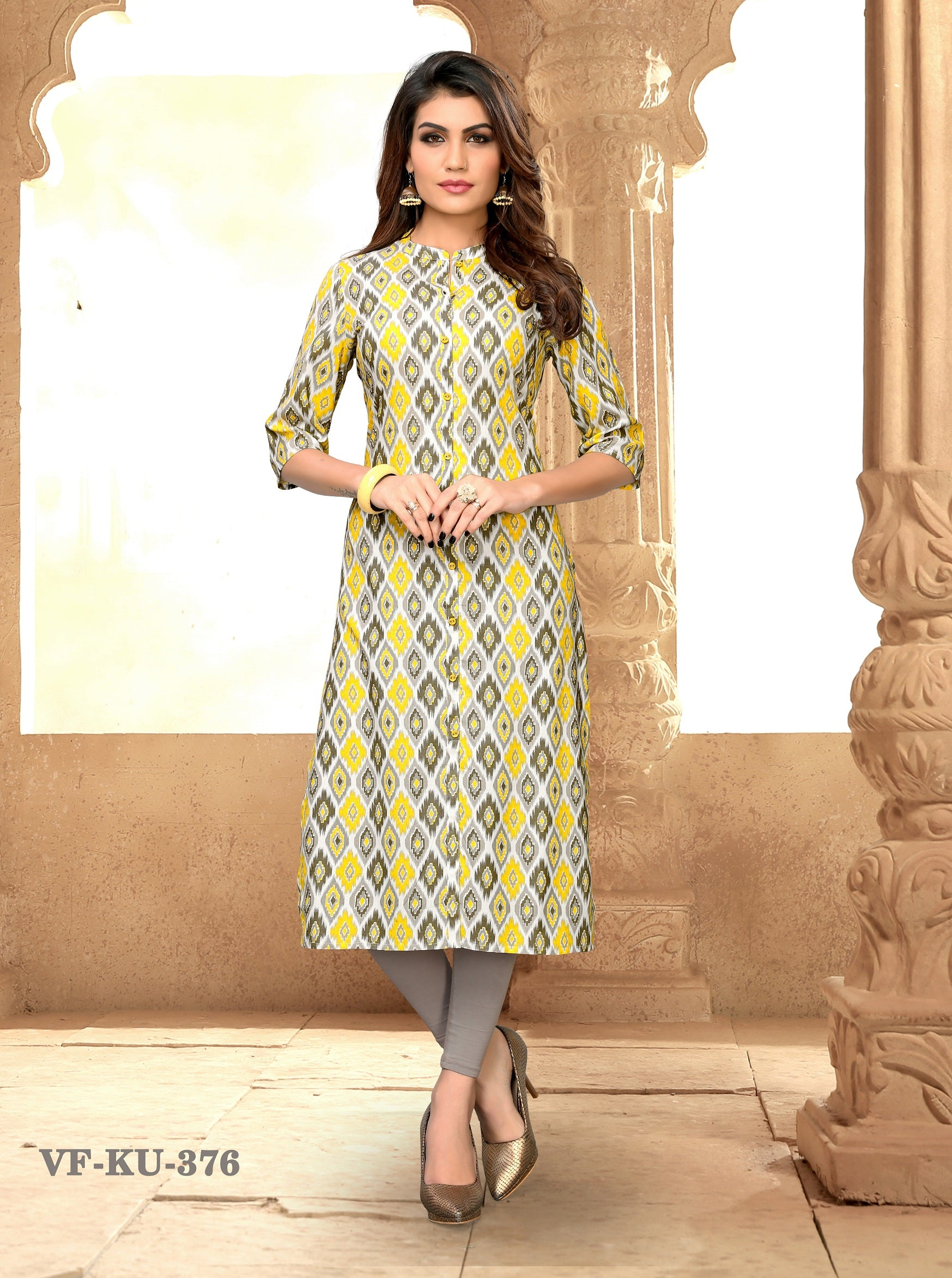 Multi Rayon Printeded Women Kurti