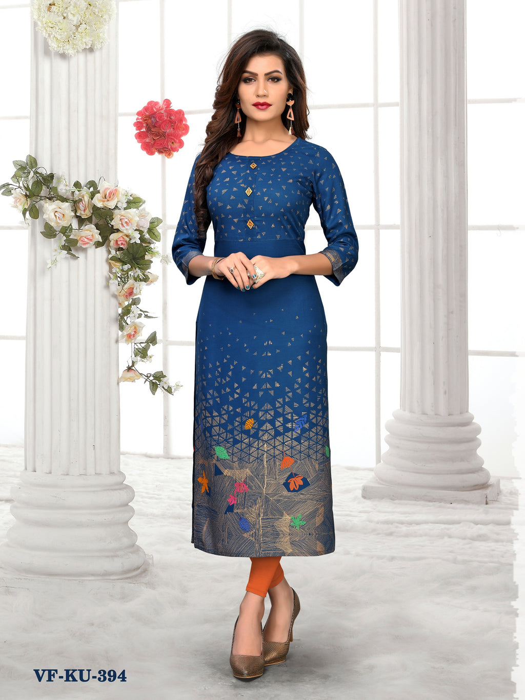 Aqua Rayon Printeded Women Kurti