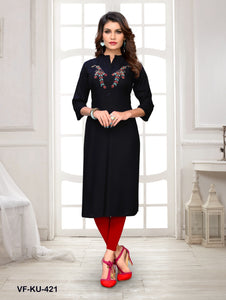 Black Hand Work Women Kurti