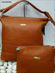 Brown Stylish Combo Women Handbag