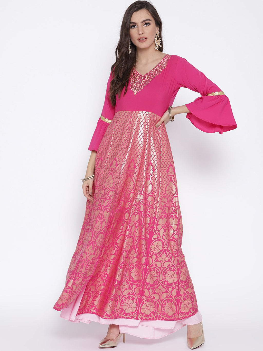 Double Layered Party Wrear Anarkali Dress