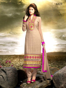 Light Apricot Designer Straight Suit