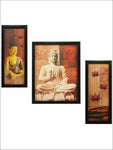 3 Pc Set Of Buddha Paintings Without Glass
