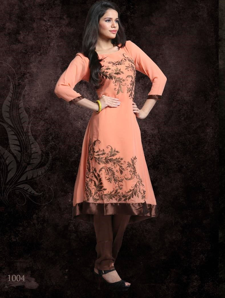 Georgette With Shantoon Inner Kurti