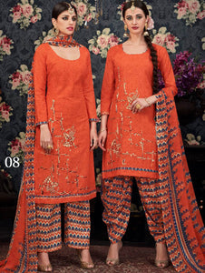 Fanta Orange Designer Salwar Suit