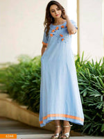 Sky Blue Designer Casual Wear Kurti