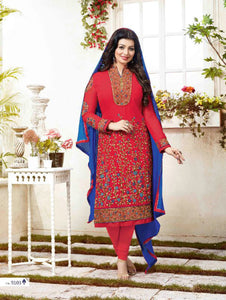 Red Exclusive Fancy Designer Straight Suit