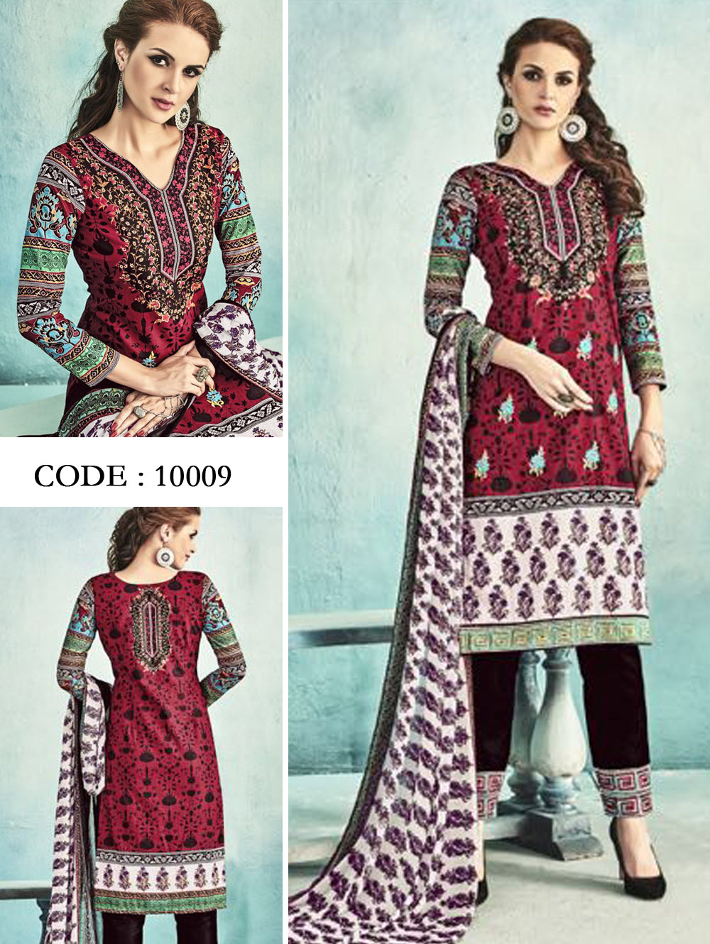 Maroon Latest Fancy Salwar Suit