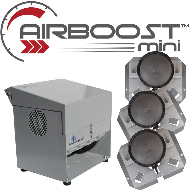 AIRBOOST Mini-345 Small Deep Pond Aerator [For .5 to 1.5 Surface Acres]