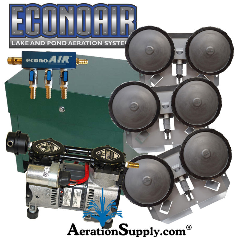 ECONOAIR-Ultimate DIY Aeration Builders Kit [For 2 to 4 Surface Acres]