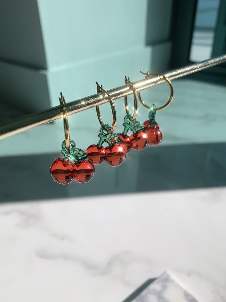 The Cherry Bomb Earrings