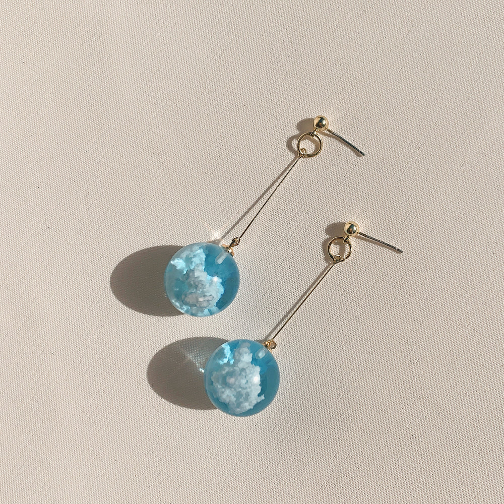 Load image into Gallery viewer, The Hanging Nebula Earrings