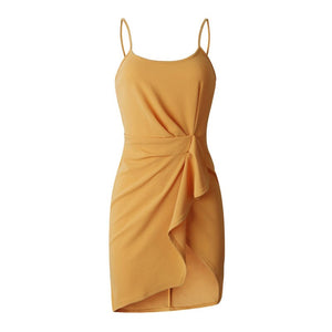 Summer  Yellow Sexy beach Dress - Newyorkfashionstyles