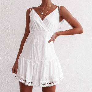 Sexy   White Mini Dress - Newyorkfashionstyles