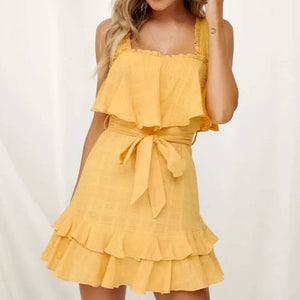 Yellow  Summer Sexy   Dress - Newyorkfashionstyles