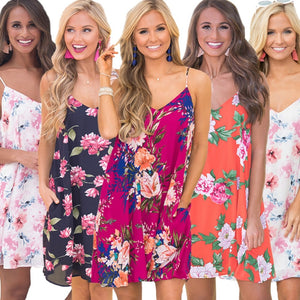 High Quality  Floral Sexy  Dress - Newyorkfashionstyles