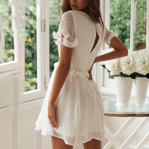 Summer  White Mini Dress - Newyorkfashionstyles