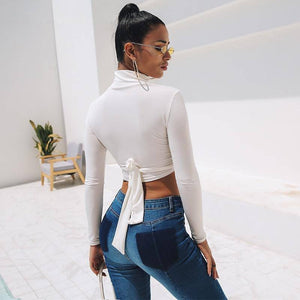 sexy long sleeve crop top - Newyorkfashionstyles