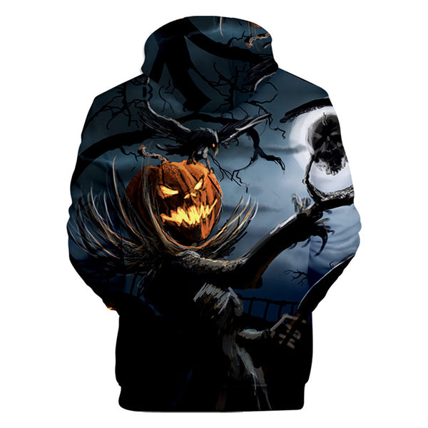 Fashion Halloween Night Hoodie Sally and Jack Casual Long Sleeve Sweatshirt