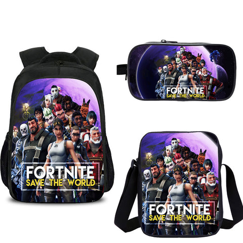 Fortnite Save The World Backpack with shoulder bag and pencil box for school