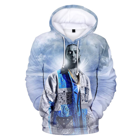 Fashion Nipsey Husssle Hoodie Casual Long Sleeve Sweatshirt