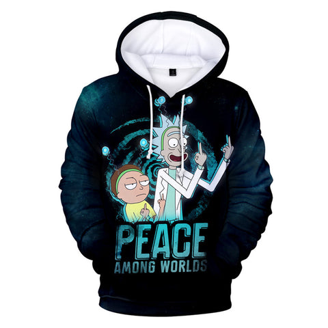 Rick and Morty 3D Hoodie Casual Long Sleeve Sweatshirt