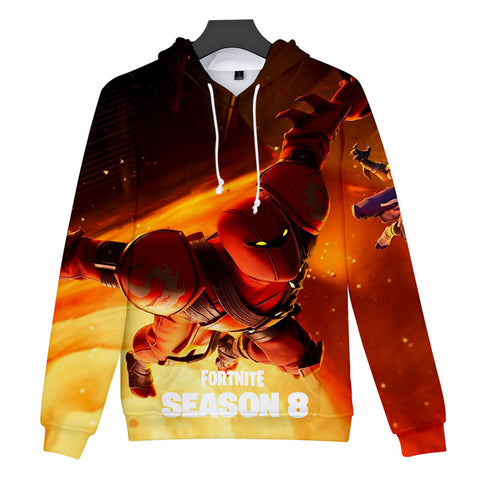 Childrens Fortnite Hoodies Season 8 Print Hoodie